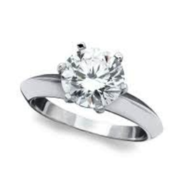 Crislu Solitaire Ring - Size 8