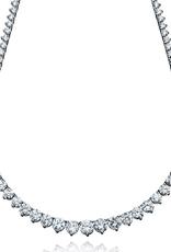 Crislu Pear Cut CZ Necklace - 25.80 Carats