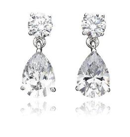 Crislu Pear Drop Earrings