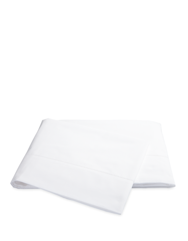 Matouk Sierra Hemstitch King Flat Sheet - White