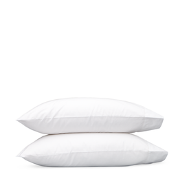 Matouk Sierra Hemstitch Standard Pillowcases - Pair -  White