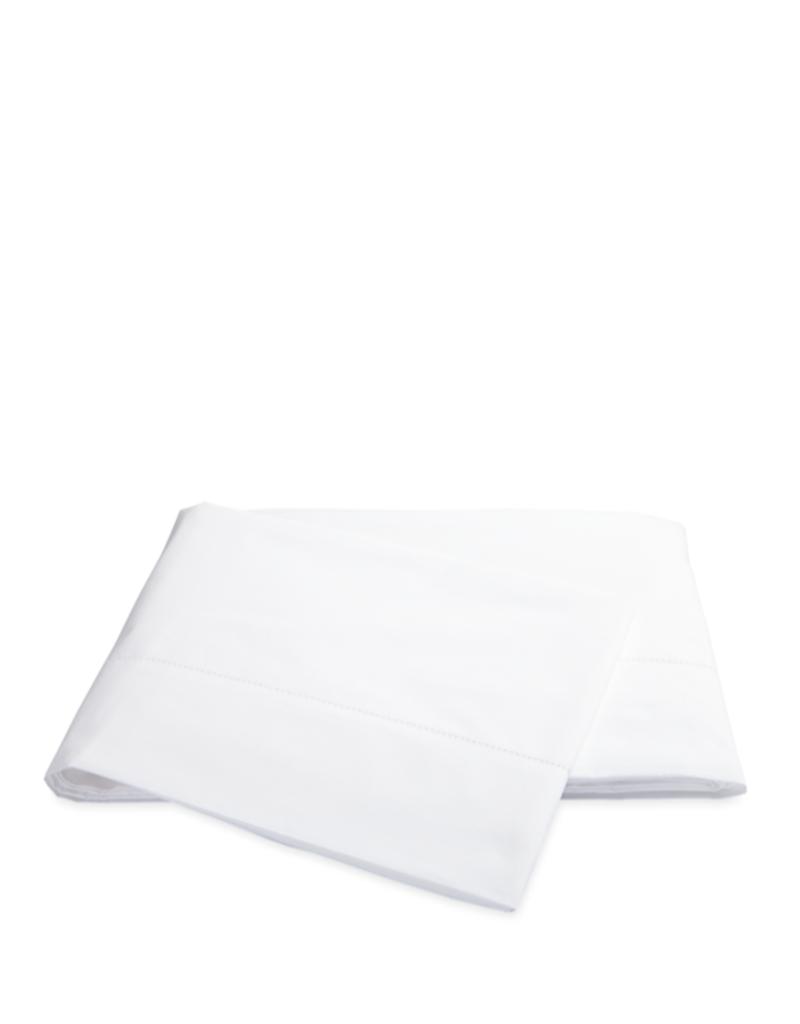 Matouk Sierra Hemstitch Full/Queen Flat Sheet - White
