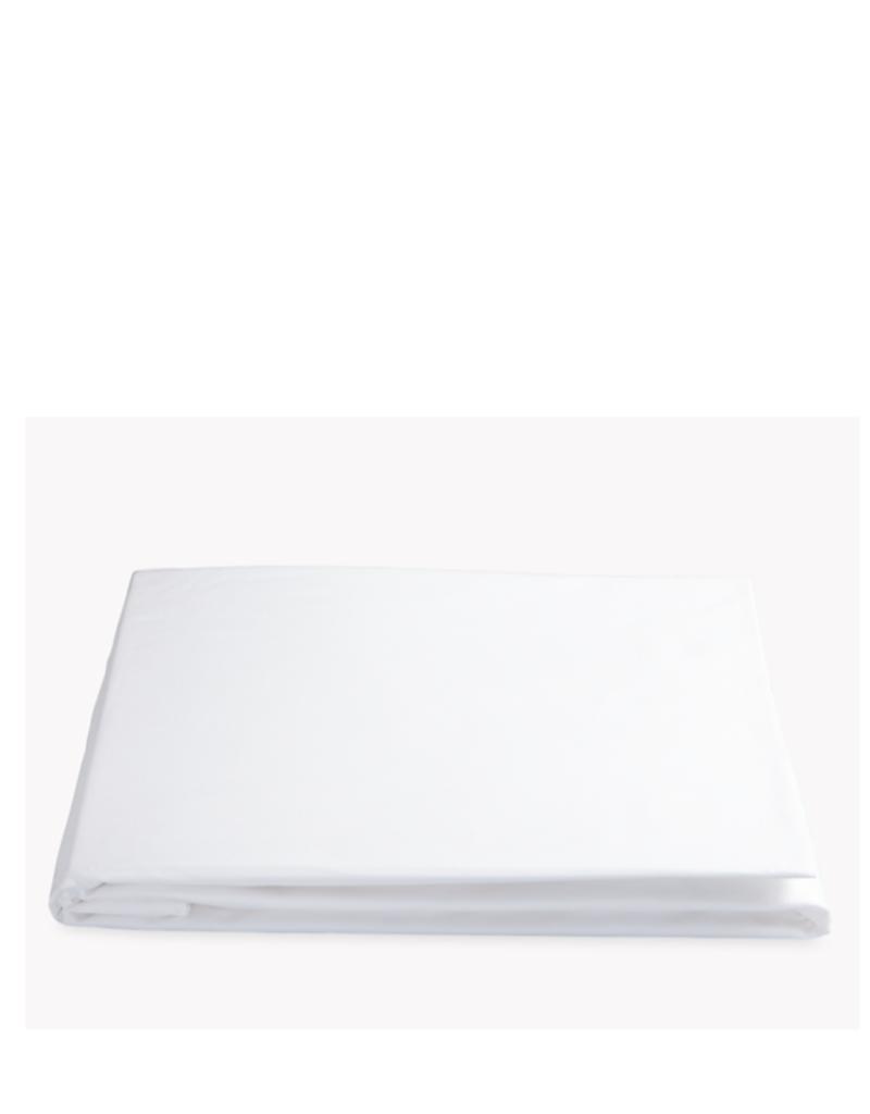 Matouk Sierra Queen Fitted Sheet - White
