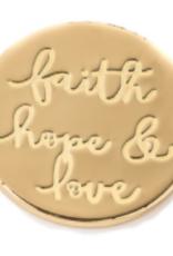 Spartina 449 Locket Keynote Insert - Faith Hope Love