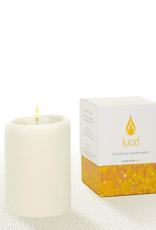 Lucid Candle Natural Pillar Candle - 3x4