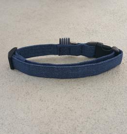 Hot Dog Collar - Blue Jean Denim - Medium