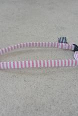 Hot Dog Collar - Red & White Stripe Searsucker - Small