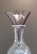 """William Yeoward Crystal Amethyst Country Wine Funnel - 7"""" - Discontinued"""