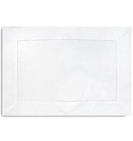 "Vienna Linen Placemat Set/4 - White - 13"" x 19"""