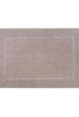 """Vienna Linen Placemat Set/4 -Beige - 13"""" x 19"""""""