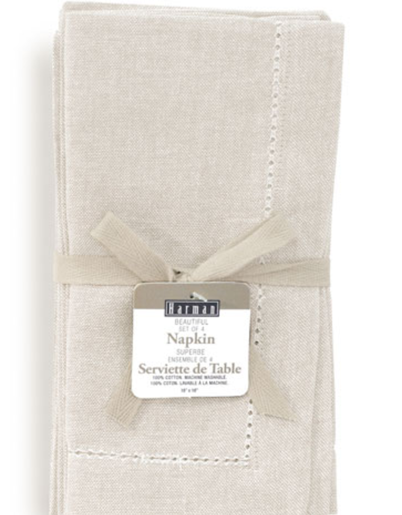 Vienna Linen Napkin Set/4 - Natural