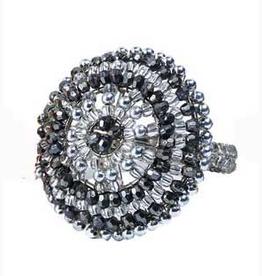 Gabriella Silver Napkin Rings - Set of 4