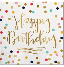 Happy Birthday Beverage Napkin - 20ct.
