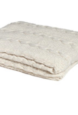 In2Green Eco Chunky Cable Throw - Milk