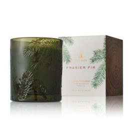 Thymes Frasier Fir Poured Candle - Molded Green Glass - 6.5 oz