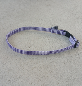 Hot Dog Collar - Purple GIngham - Small
