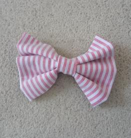 Hot Dog Bowtie - Red & White Stripe Searsucker - Medium