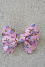 Hot Dog Bowtie - Pink & Blue Hearts - Small