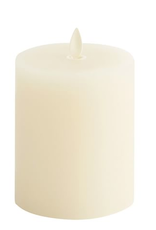 Lightli Ivory Pillar Remote Control Candle - 3x8