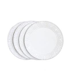 Skyros Historia Salad Plates  - Assorted Set of 4 - Paperwhite