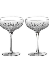 Waterford Lismore Essence Saucer Champagne Glass - Pair
