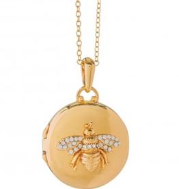 Spartina 449 Round Locket Necklace - Bee