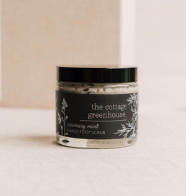 The Cottage Greenhouse Rosemary Mint Pumice Foot Scrub