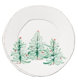 Vietri Lastra Holiday European Dinner Plate