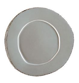 Vietri Lastra American Dinner Plate - Gray