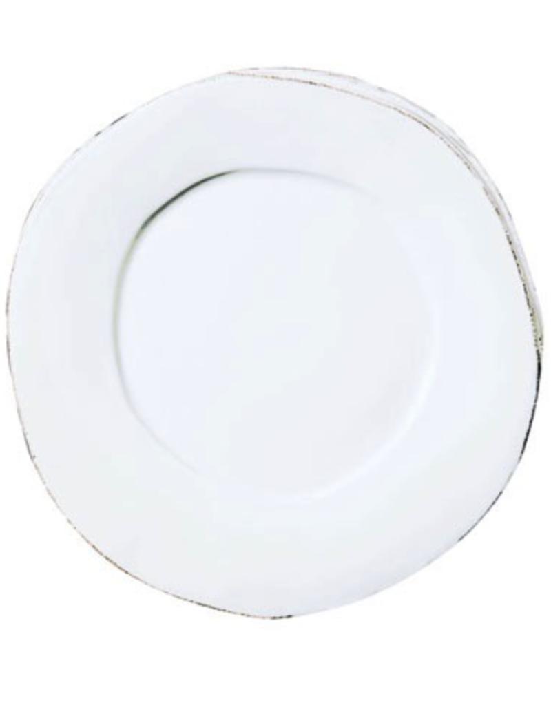 Vietri Lastra American Dinner Plate - White