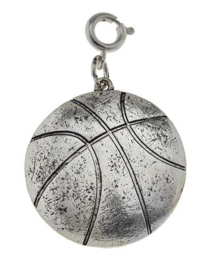 Basketball Charm - Silver