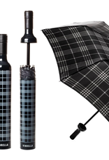 Vinrella Black Plaid Bottle Umbrella