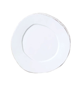 Vietri Lastra Salad Plate - White
