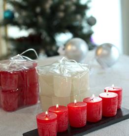 Vance Kitira Timber Votive Candles - Grape Green - Set of 12