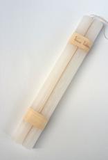 """Vance Kitira Timber Taper Candles - 12"""" - White"""