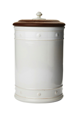 Juliska Berry and Thread 13'' Canister with Wooden Lid - Whitewash