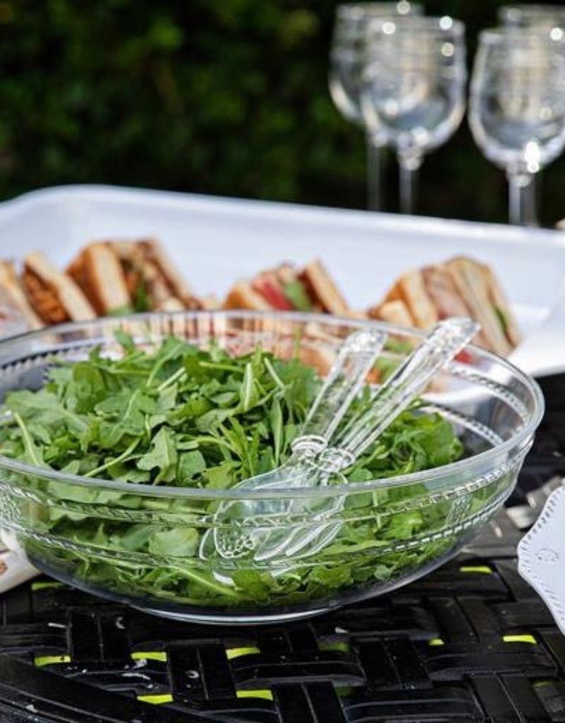 "Juliska Isabella Acrylic Salad Servers - Clear - 11.5""L"
