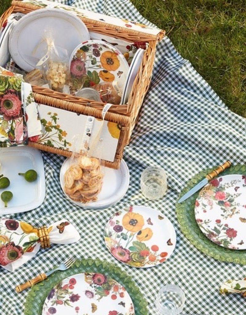 Juliska Berry and Thread Melamine Whitewash Dinner Plate