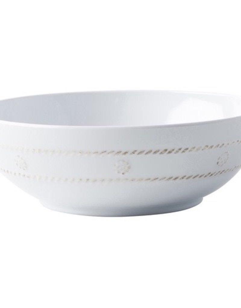 "Juliska Berry and Thread Coupe Bowl  Melamine  - Whitewash - 8.2""W"
