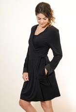 Black Bamboo Wrap Robe -  Small/Medium