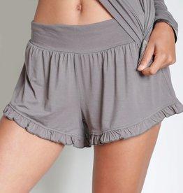 Bamboo Ruffle Shorts -  Fog -  Large