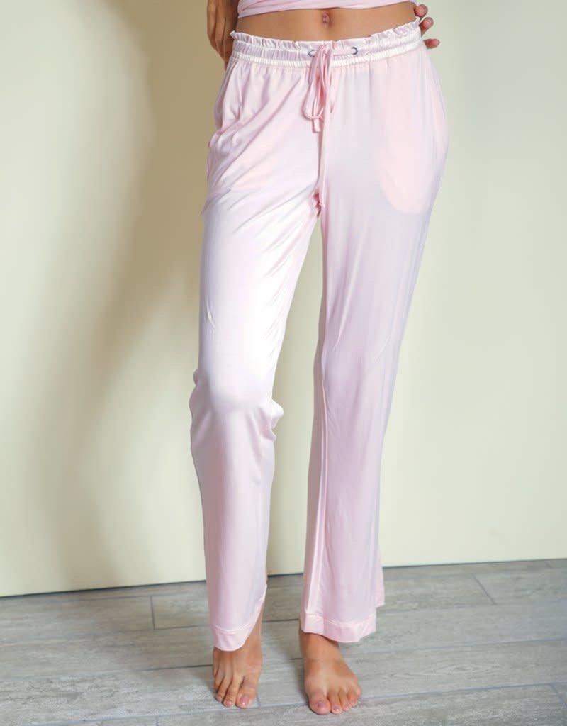 Bamboo Long Pants - Pink - Medium