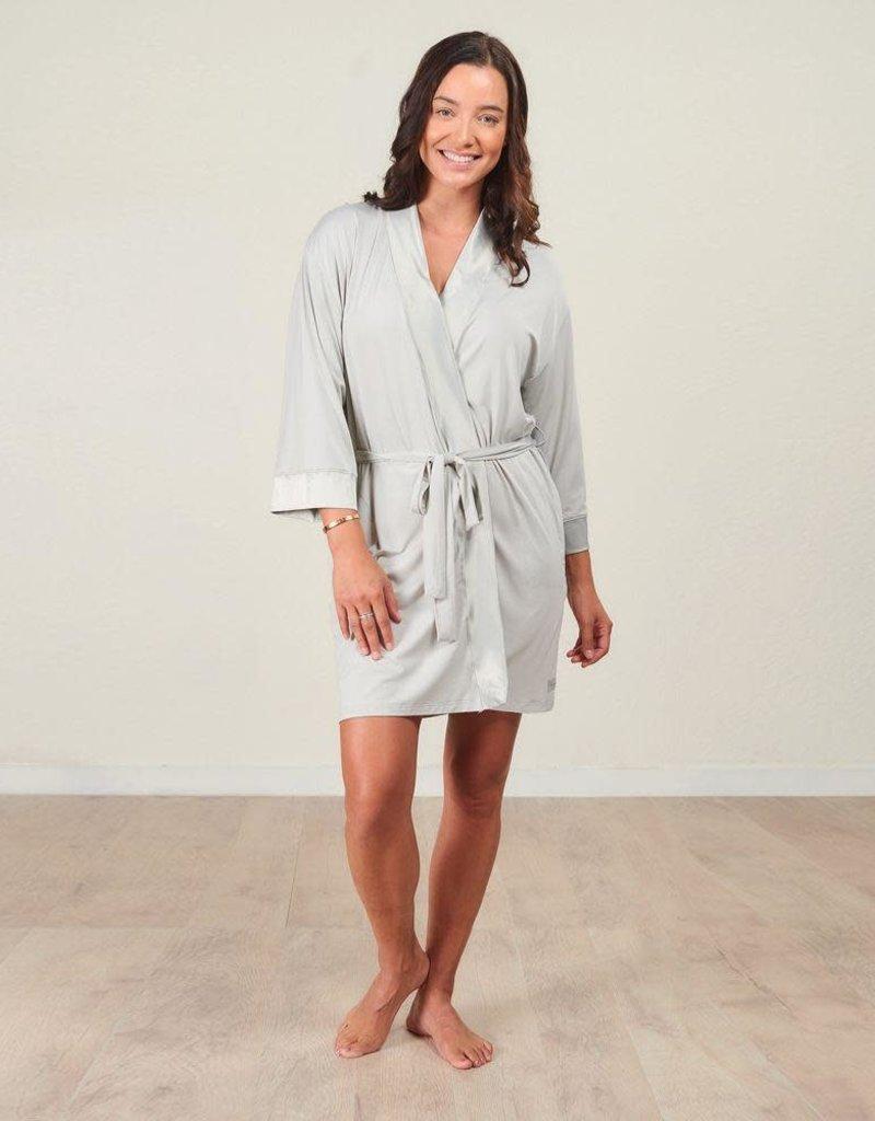 Bamboo Kimono Robe -  Fog -  Small/Medium