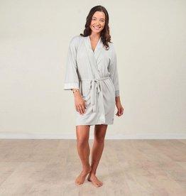 Bamboo Kimono Robe -  Fog -  Large/X-Large