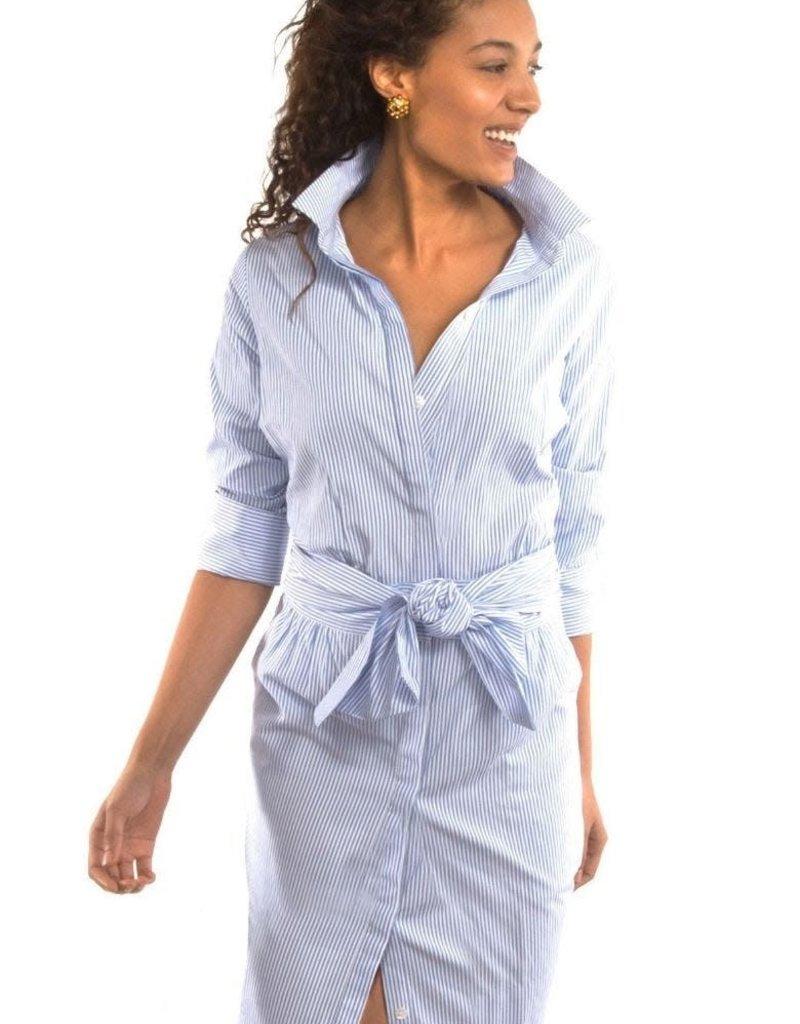 Gretchen Scott Designs Breezy Blouson Dress - Blues - Large