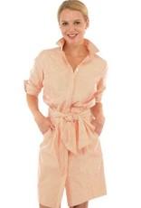 Gretchen Scott Breezy Blouson Dress - Coral - Medium