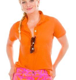 Gretchen Scott Designs GripeLess - Cotton Piqué Polo Shirt - Orange - Large