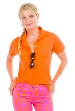 Gretchen Scott Designs GripeLess - Cotton Piqué Polo Shirt - Orange - X-Small