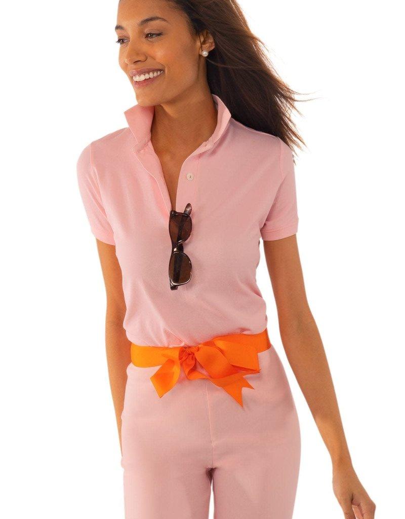 Gretchen Scott Designs GripeLess - Cotton Piqué Polo Shirt - Whisper Pink - Large