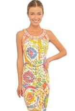 Gretchen Scott Designs Jersey Isosceles Dress - Magic Carpet - Brights - Medium